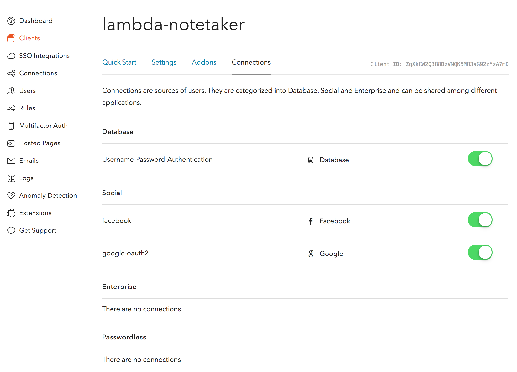 Authenticating a REST API on AWS Lambda using Auth0